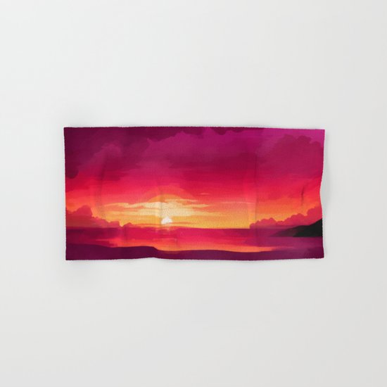 A Panoramic Sunset Hand & Bath Towel