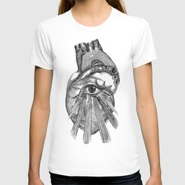 Engraving - Eyed Heart T-shirt