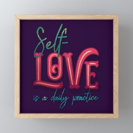 Kelly-Ann Maddox Collection :: Self-Love (Simple) Framed Mini Art Print