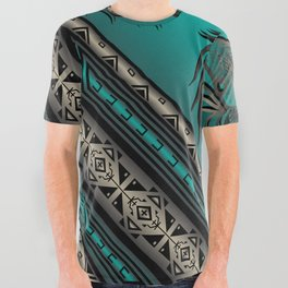 Horse Nation (Aqua) All Over Graphic Tee