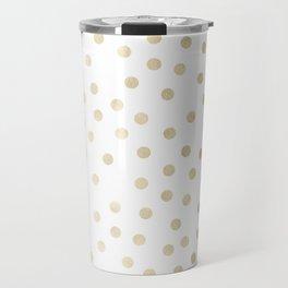 Stylish Gold Polka Dots Travel Mug
