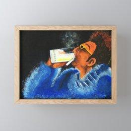 """HERE'S TO FEELIN' GOOD ALL THE TIME"" Framed Mini Art Print"