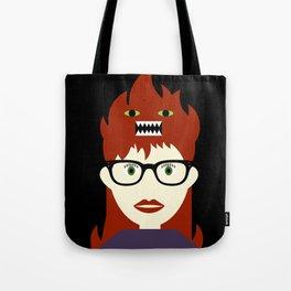 Monster On My Head Tote Bag