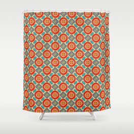 Red And Turquoise Shower Curtain. Persian Seal Shower Curtain persian shower curtains  Society6