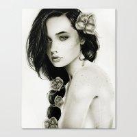 katniss Canvas Prints featuring Katniss by Isaiah K. Stephens