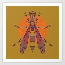 Dragon-fly headshell Art Print