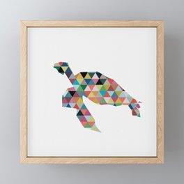 Colorful Geometric Turtle Framed Mini Art Print