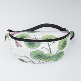 a touch of summer fragrance - white background Fanny Pack