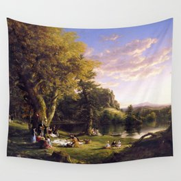 The Pic-Nic (1846) by Thomas Cole Wall Tapestry