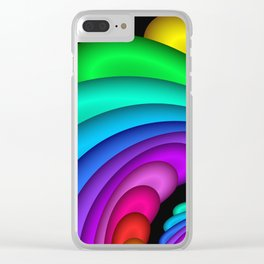 fractal and colorful -4- Clear iPhone Case