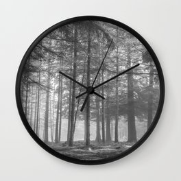 Black and white trees - North Kessock, Highlands, Scotland Wall Clock