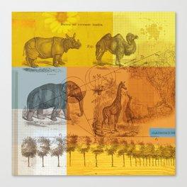 Wild animals collage Canvas Print