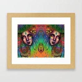 Sun hits Framed Art Print