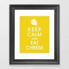 Keep Calm and Eat Cheese Framed Art Print