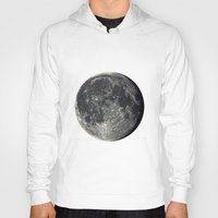 the moon Hoodies featuring Moon by Pete Baker