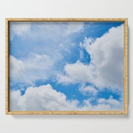 Partly Cloudy Serving Tray