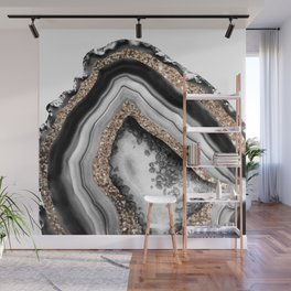 Agate Gold Glitter Glam #1 #gem #decor #art #society6 Wall Mural