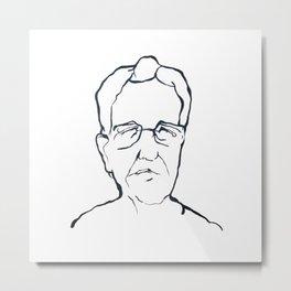 Chomsky Metal Print