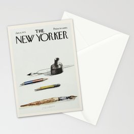 """Cover of """" The new Yorker"""" magazine.  Jan. 6 1975. Stationery Cards"""