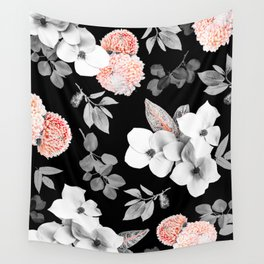 Night bloom - moonlit flame Wall Tapestry
