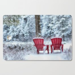 Winter Arrives on Anderson Pond Cutting Board
