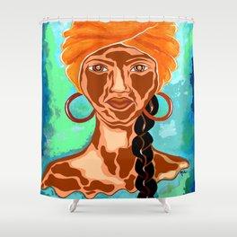Warrior Woman Shower Curtain