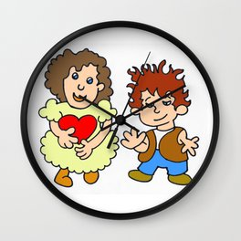 Give me your heart by Laila Cichos Wall Clock