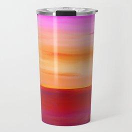 Painted Sunset Reflections Travel Mug