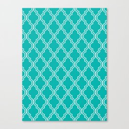 Teal Moroccan Canvas Print