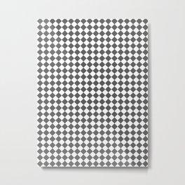 Small Diamonds - White and Dark Gray Metal Print