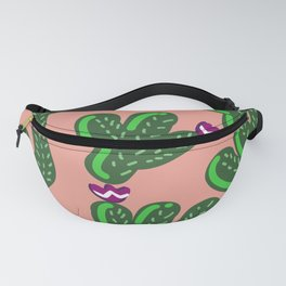 Prickly Cactus with Purple Flowers Fanny Pack