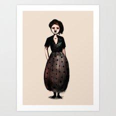 French Girl I Art Print