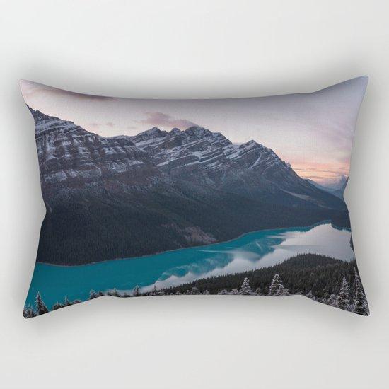 Peyto Lake at dusk Rectangular Pillow