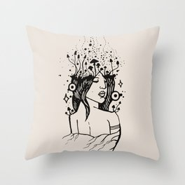 Queen of Spores Throw Pillow