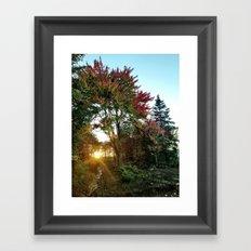 Fall Sunrise Framed Art Print