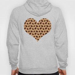Cool Brown Coffee beans pattern Hoody