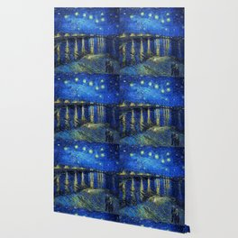 Starry Night Over the Rhone by Vincent van Gogh Wallpaper