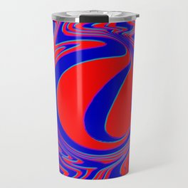 thrust, red and blue Travel Mug