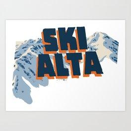 Ski Alta Art Print