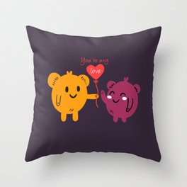 You're My Love Balloon Throw Pillow