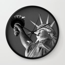 The Statue of Liberty 1a by Kathy Morton Stanion Wall Clock