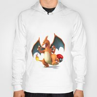 charizard Hoodies featuring Charizard by Yamilett Pimentel