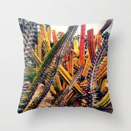 gardens of Barcelona. cactuses Throw Pillow
