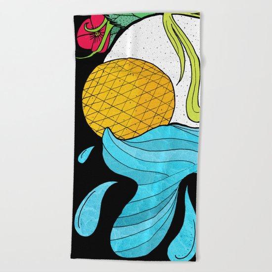 The Sun and Moon Beach Towel
