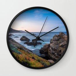 Coastline - The Beauty of Big Sur at Sunrise Wall Clock