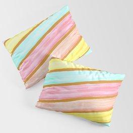 Retro Watercolor Stripes  Pillow Sham