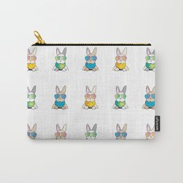 Bunnies Rabbits wear Sunglasses Carry-All Pouch