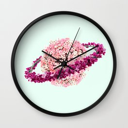 FLORAL PLANET Wall Clock