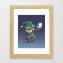 Kawaii Magician Framed Art Print