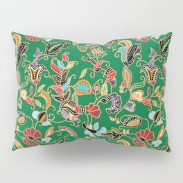 Sarong Kebaya Batik Green Pillow Sham